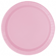 "Large Lovely Pink Plates - 9"" Paper Plates (16pcs)"